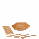 BBQ Pack 2 - Including wooden cutlery & hexagonal palm plates